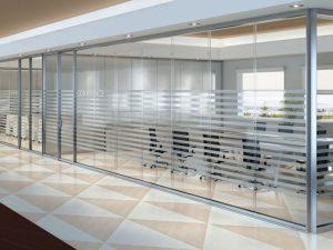 piso teto vidro unico